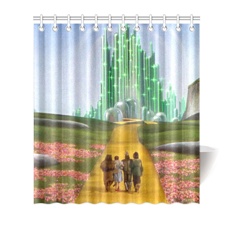 Image Is Loading Custom Polyester Waterproof Wizard Of Oz Bathroom Shower
