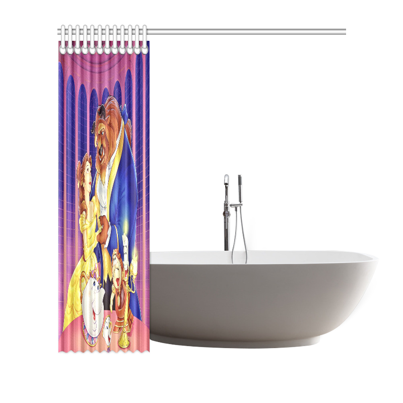 Custom Waterproof Beauty And The Beast Bathroom Shower