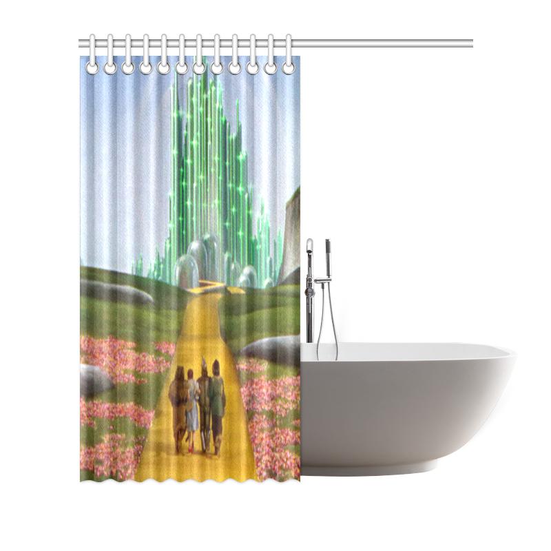 Custom Polyester Waterproof Wizard Of Oz Bathroom Shower