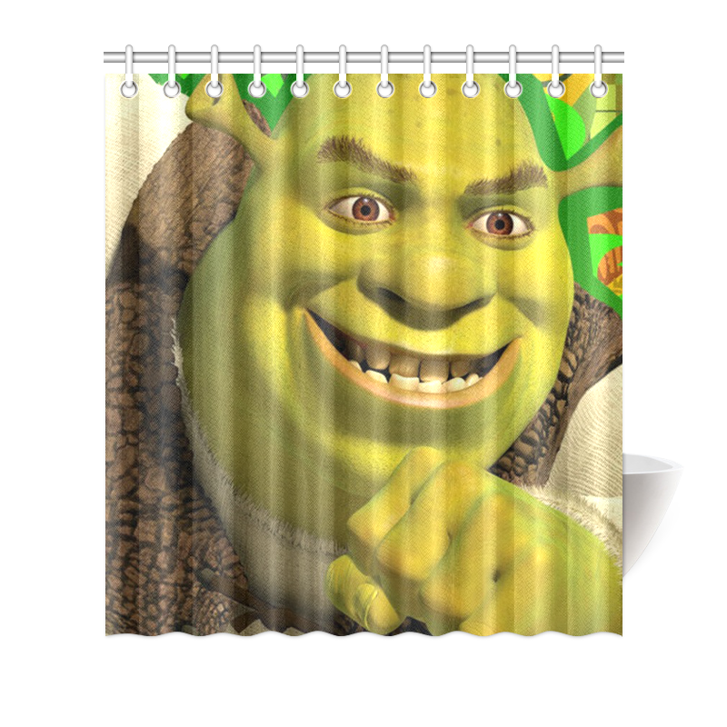 Image Is Loading Custom Polyester Waterproof Shrek Bathroom Shower Curtain 66