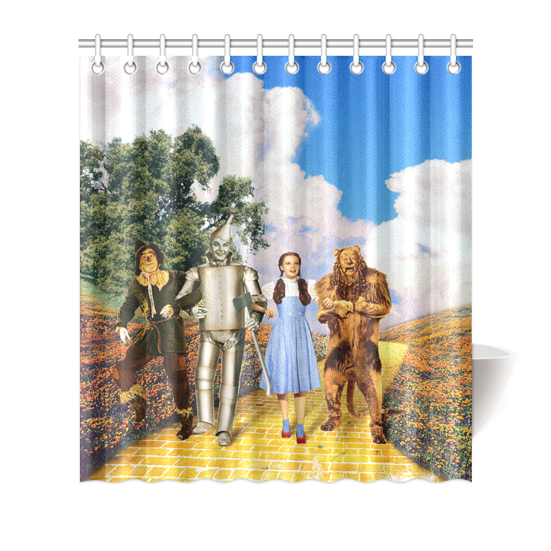 Image Is Loading Custom Bath Decor Waterproof Wizard Of Oz Bathroom